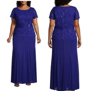ONYX NITE LACE TOP GOWN